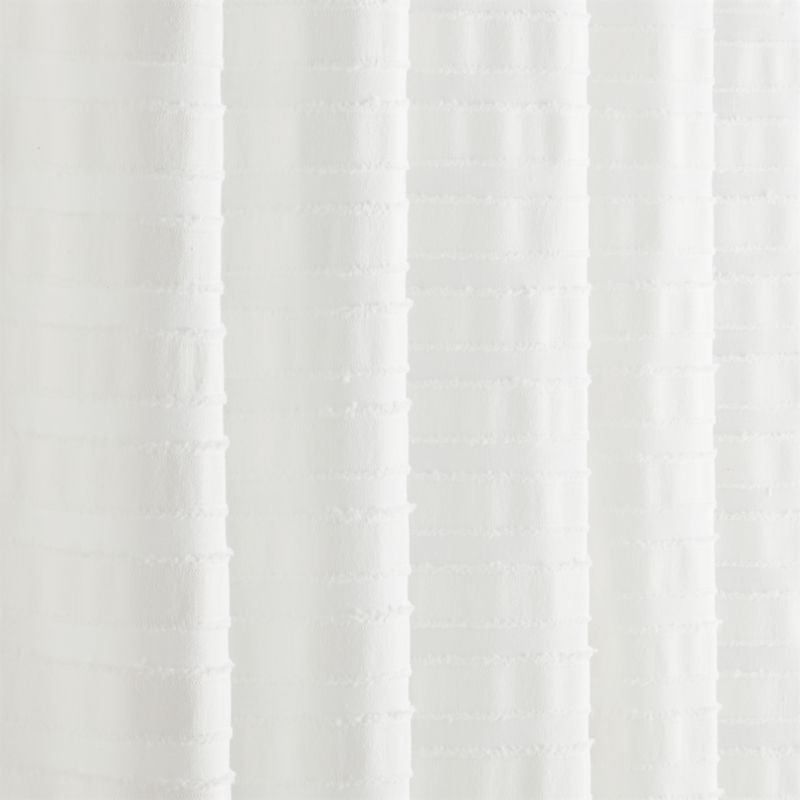 Ribbon White Shower Curtain Reviews Cb2