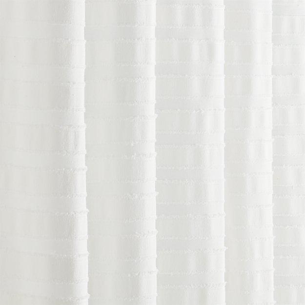 Ribbon White Shower Curtain