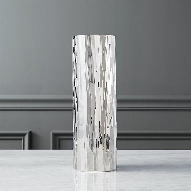 ripple silver vase