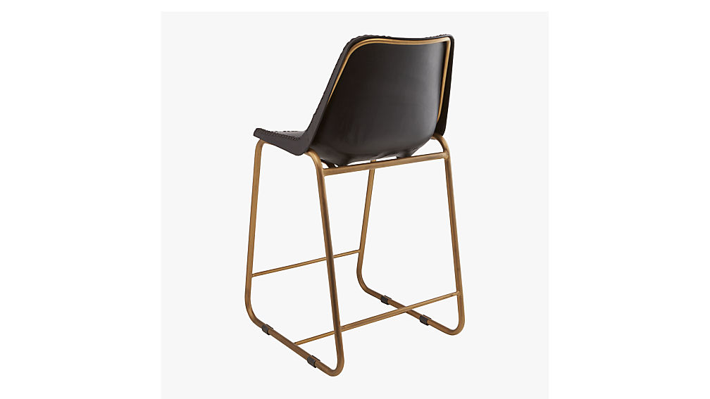 """roadhouse black leather 24"""" counter stool"""