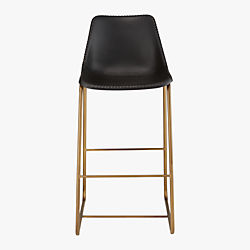 "roadhouse black leather 30"" bar stool"