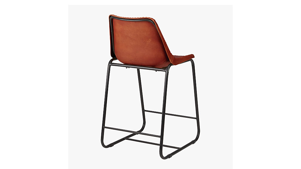 """roadhouse 24"""" leather counter stool"""