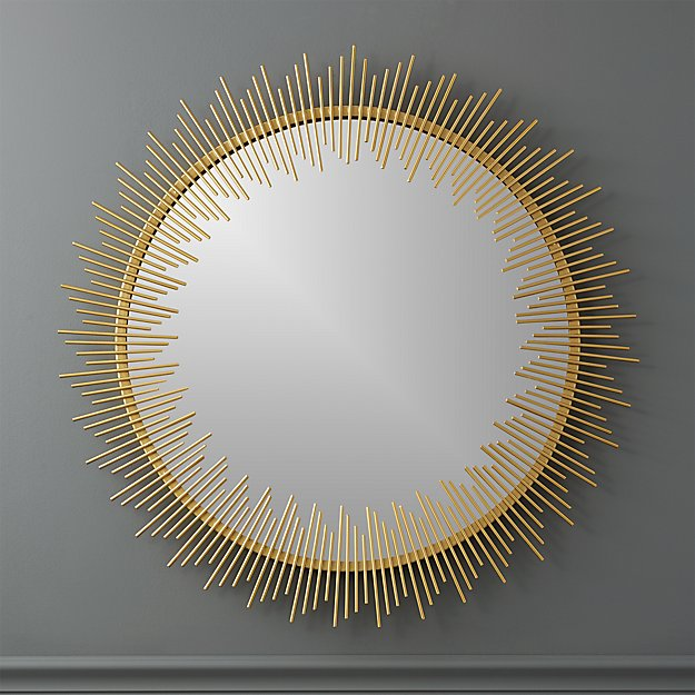 "Circle Wall Mirrors rocco 33"" round wall mirror 