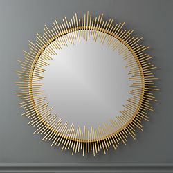 "rocco 33"" round wall mirror"