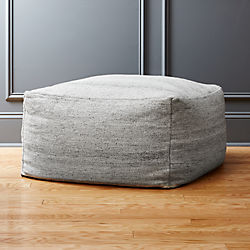 rook light grey pouf
