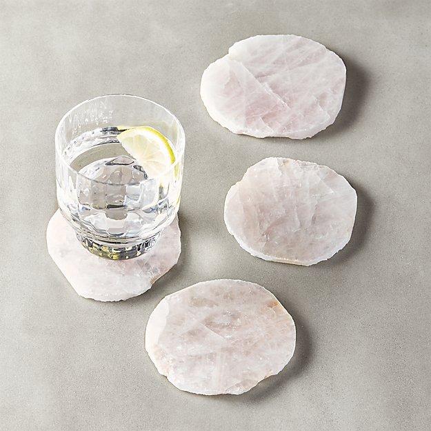 Rose Quartz Coasters Set Reviews
