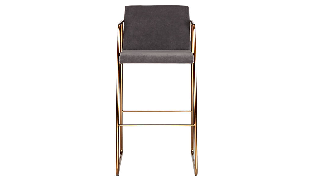 "Rouka Grey Upholstered 30"" Bar Stool"