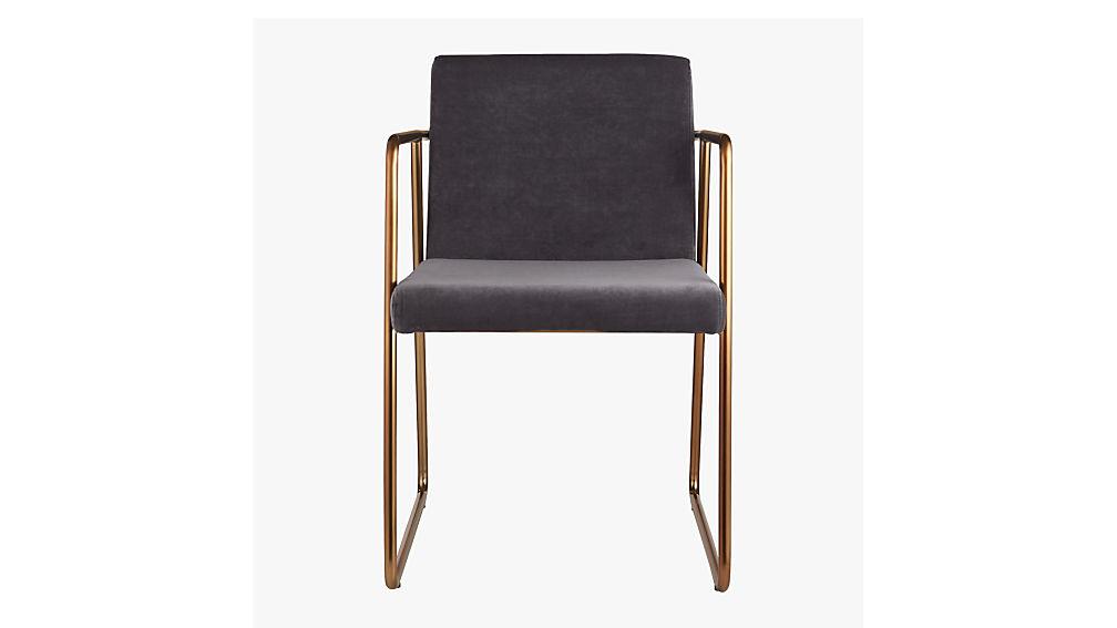 Rouka dark grey dining chair cb2