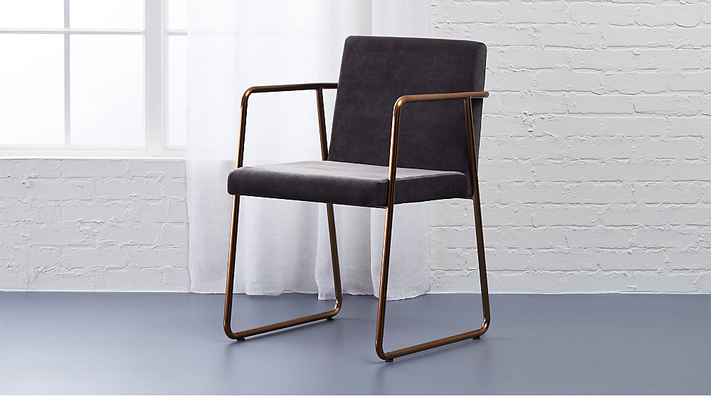 rouka dark grey dining chair + Reviews | CB2