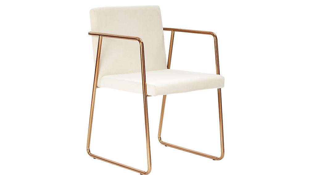 Rouka White Velvet Chair Reviews Cb2