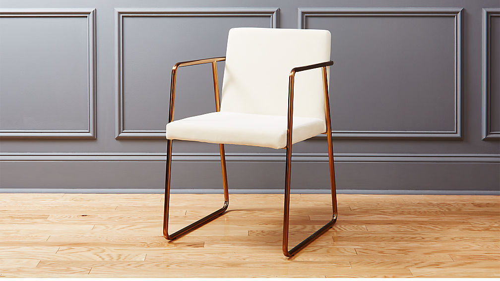 rouka white velvet chair