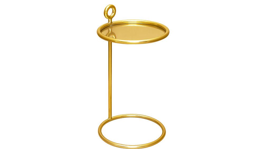 round brass c table