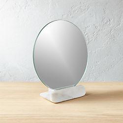 """Round Marble Mirror 7"""""""