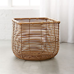 Round Square Natural Basket