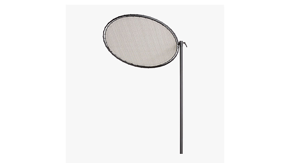 round black sun shade with pole