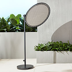 round black sun shade with base
