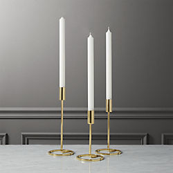 3-piece roundabout taper candle holder set