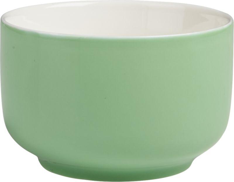 roundish green mini bowl
