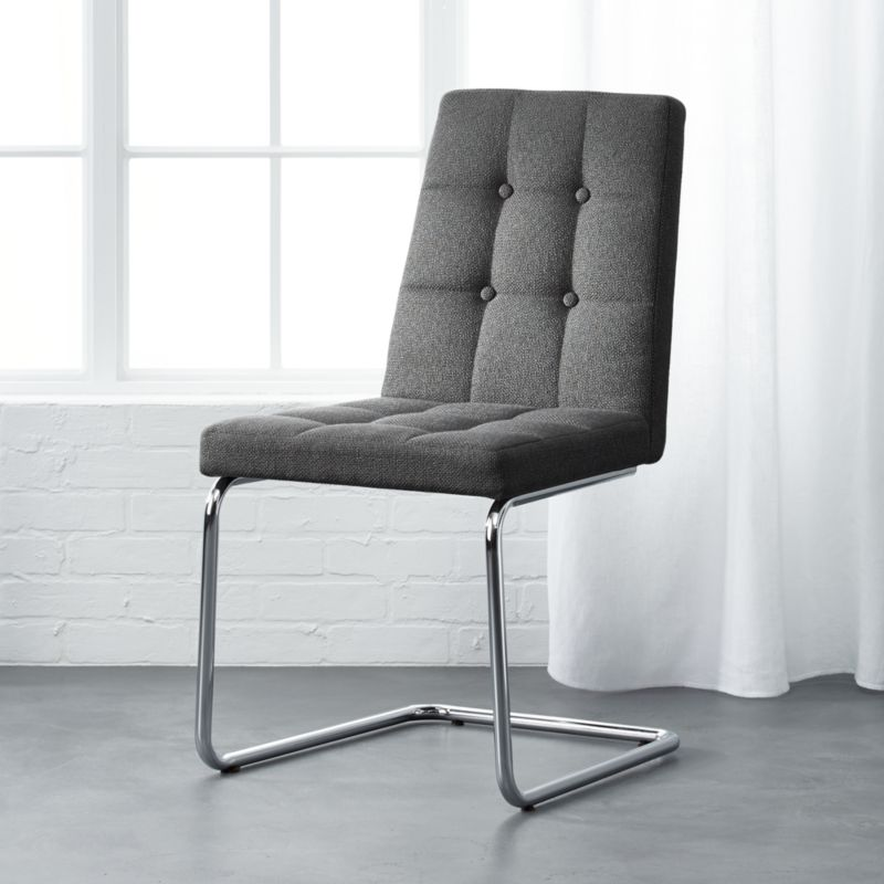 Roya Grey Chair Beta Grey Cb2