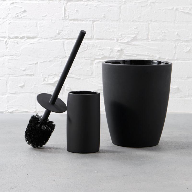 Matte Black Bath Accessories Cb2