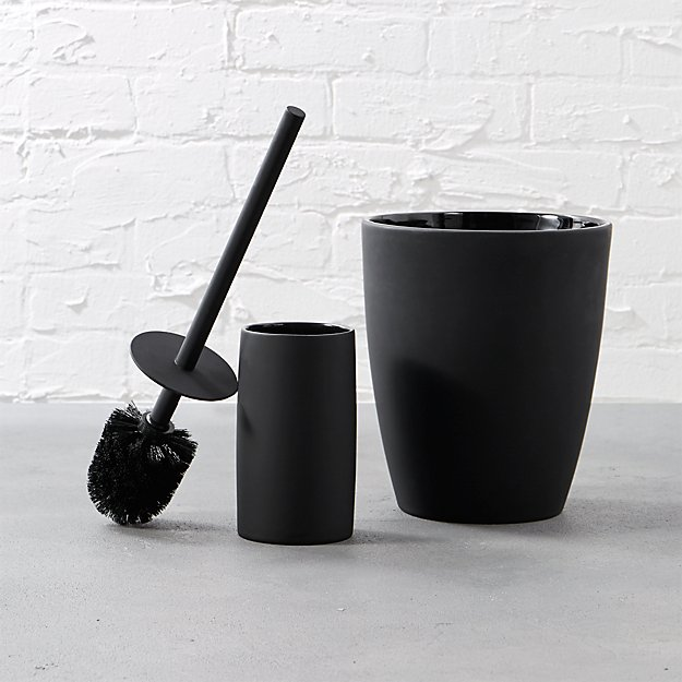 rubber coated black toilet brush in view all reviews cb2. Black Bedroom Furniture Sets. Home Design Ideas