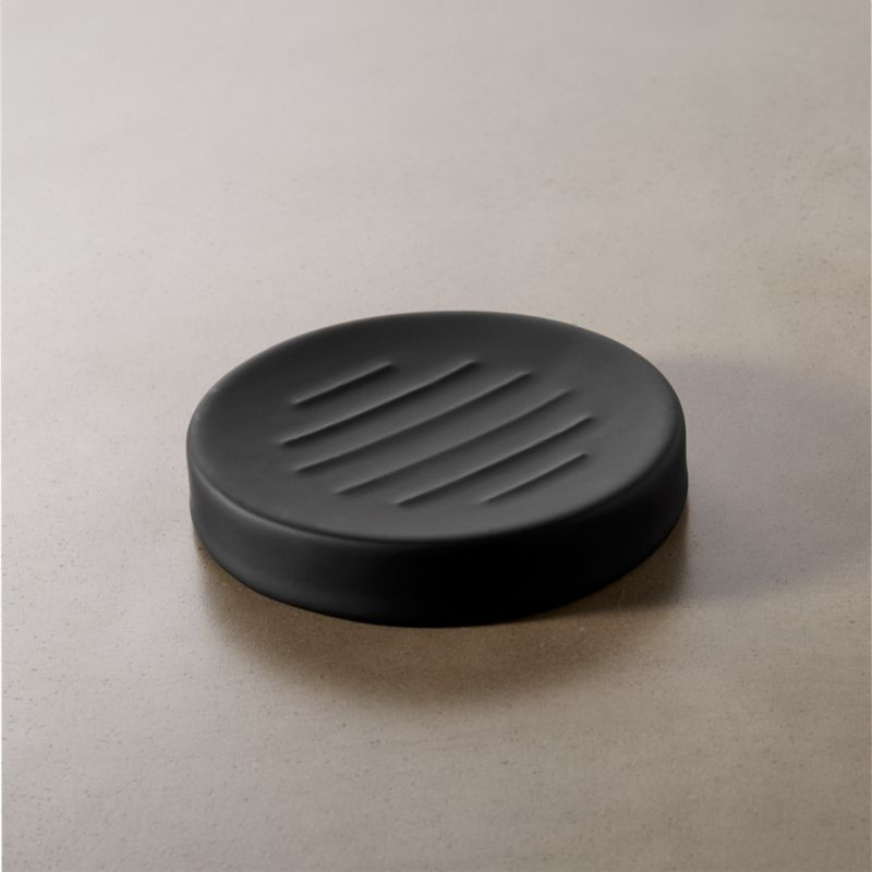 Rubber Coated Black Soap Dish Reviews Cb2