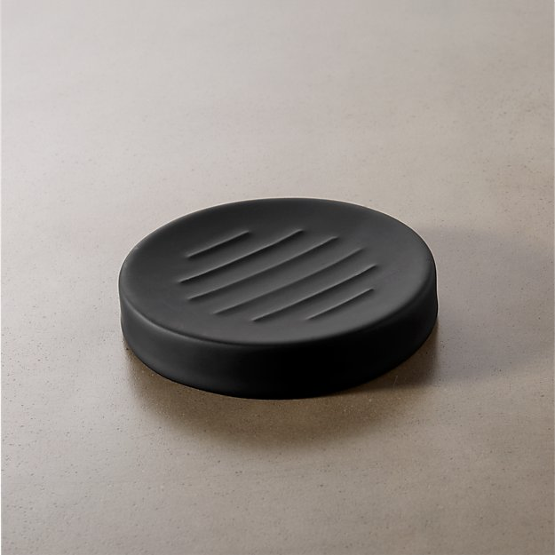 rubber coated black soap dish