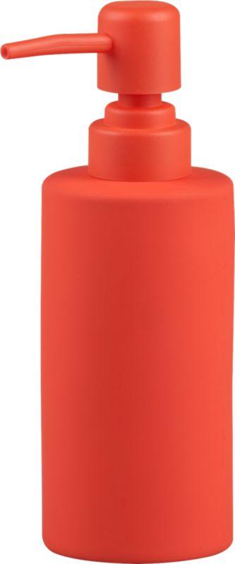 rubber coated orange soap pump