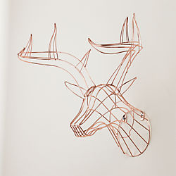 rudy the wall hanging copper deer