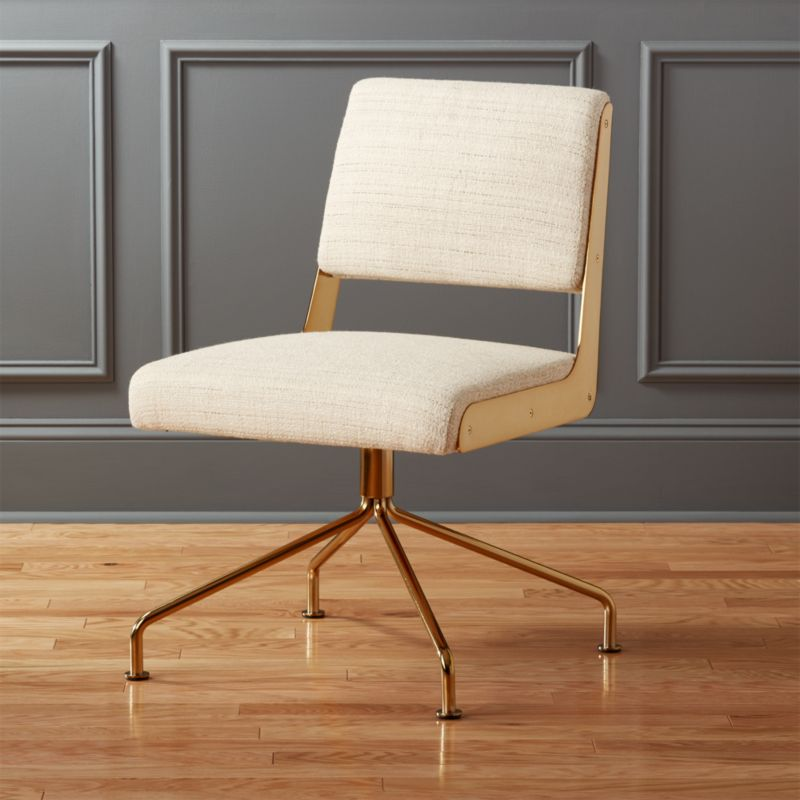 rue cambon cream office chair | cb2