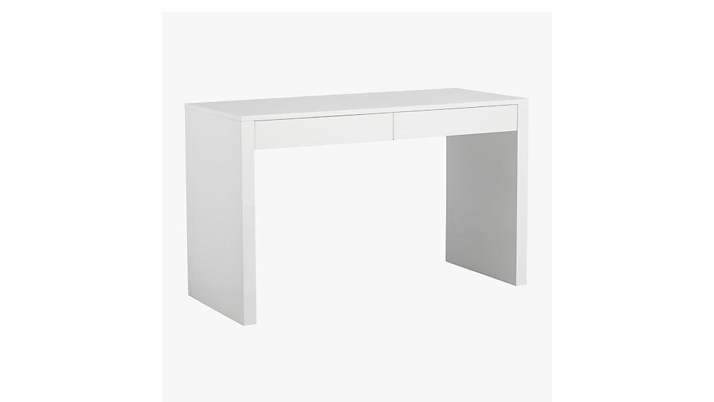 Runway White Lacquer Desk Reviews Cb2