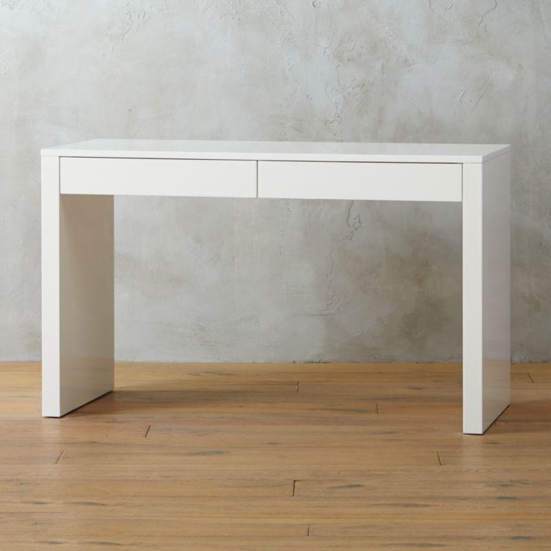 lacquer furniture modern. Runway White Desk Lacquer Furniture Modern