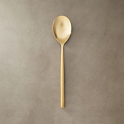 rush gold serving spoon