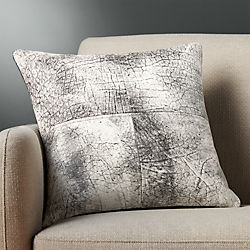 """18"""" ryker leather pillow with down-alternative insert"""