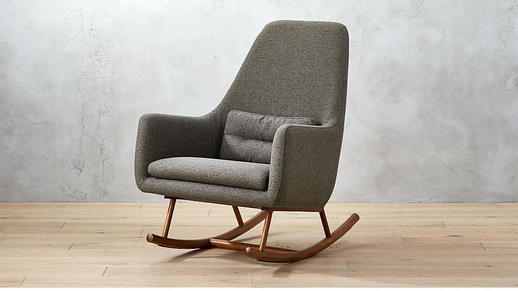 SAIC Quantam Charcoal Grey Rocking Chair in accent chairs