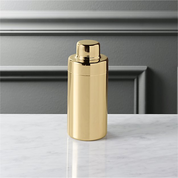 stainless steel gold mini cocktail shaker