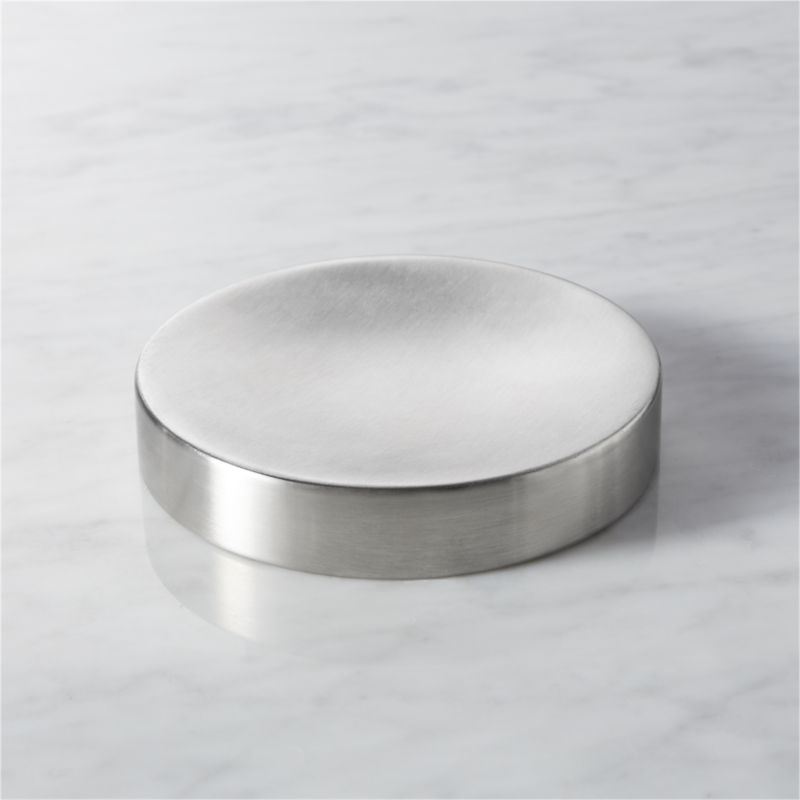 "<span class=""copyHeader"">utility civility. </span> Surgical stainless in clean bath house curves and a satin spa finish.<br /><br /><NEWTAG/><ul><li>18/8 stainless steel with satin finish</li><li>Wipe clean with damp cloth</li></ul>"