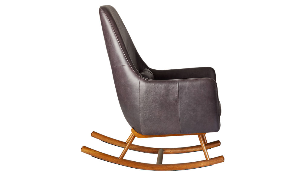 SAIC quantam leather rocking chair