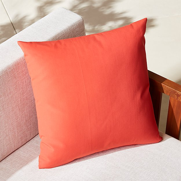 "20"" salmon outdoor pillow"