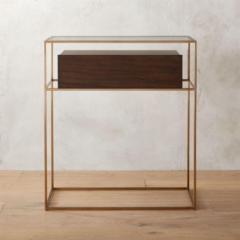 Bronze Furniture salvador entryway cabinet | cb2
