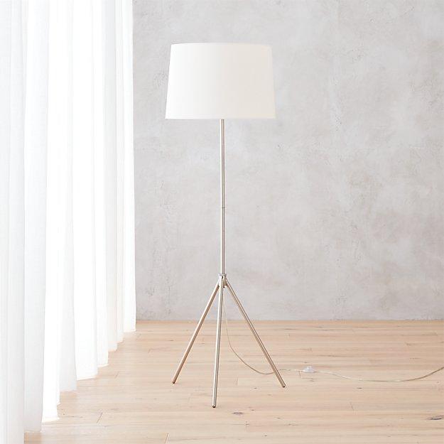 Tripod floor lamp cb2 gurus floor for Cb2 lamp pool floor lamp