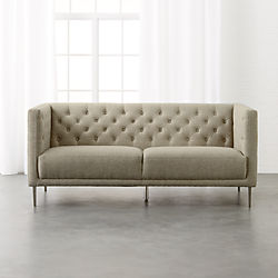 Savile Grey Tufted Apartment Sofa
