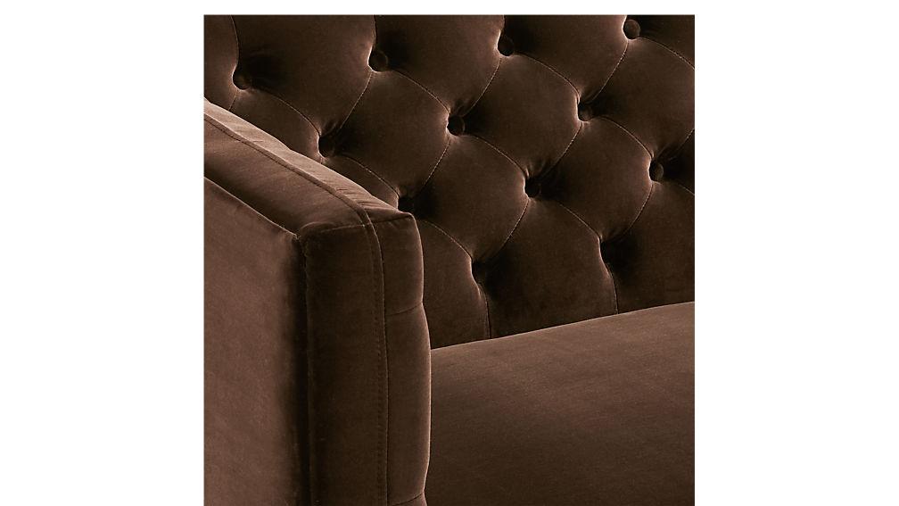 Savile Cocoa Brown Velvet Tufted Chair