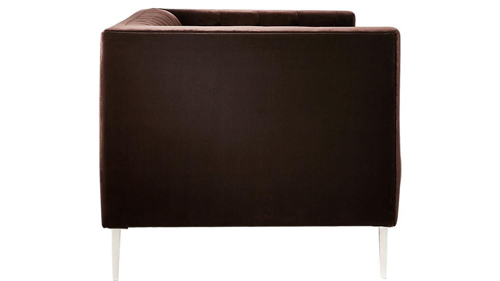 Savile Cocoa Brown Velvet Tufted Apartment Sofa