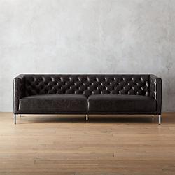 savile leather sofa