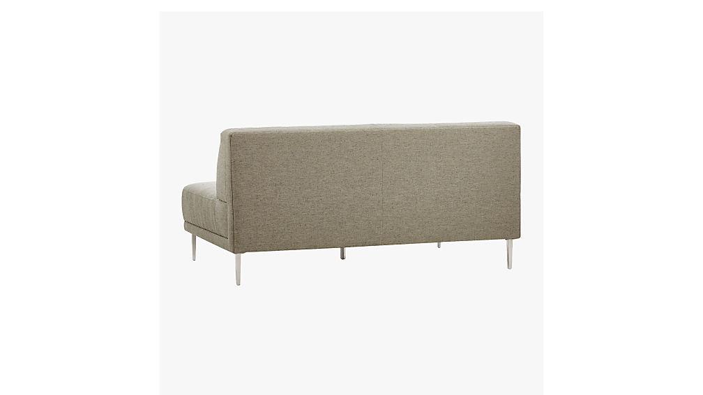 Savile Grey Tufted Armless Sofa