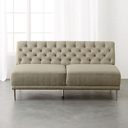 Savile Grey Tufted Armless Sofa