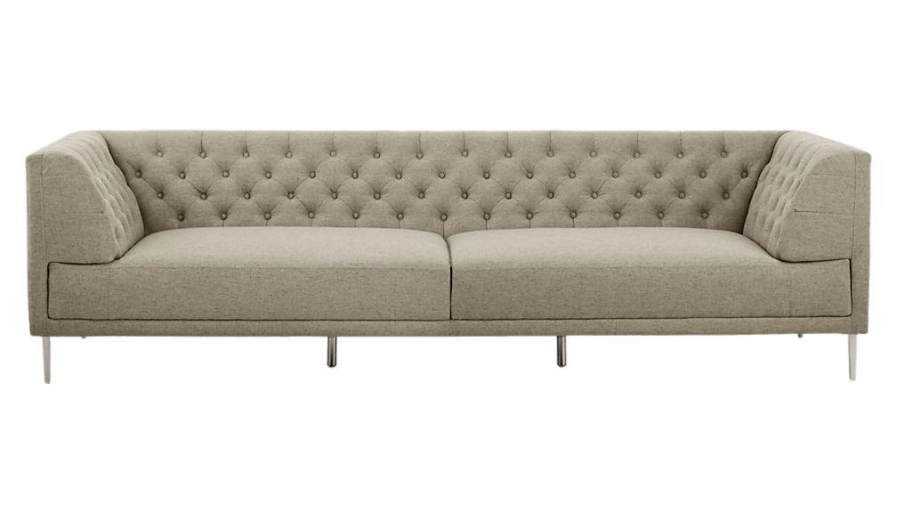 Savile Grey Tufted Extra Large Sofa