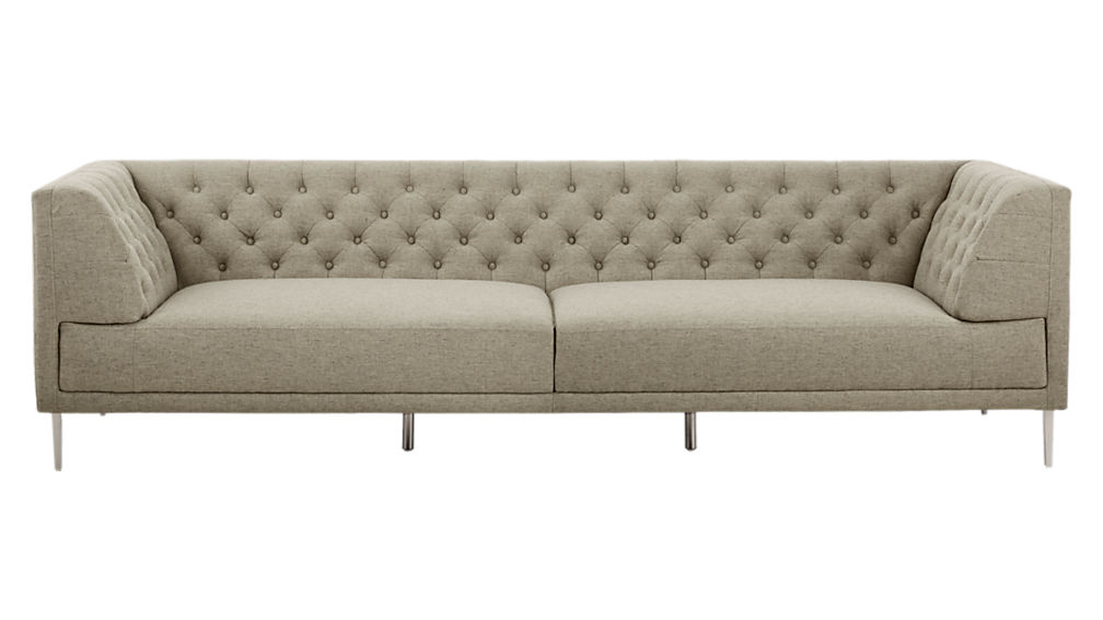 Savile Grey Tufted Extra Large Sofa