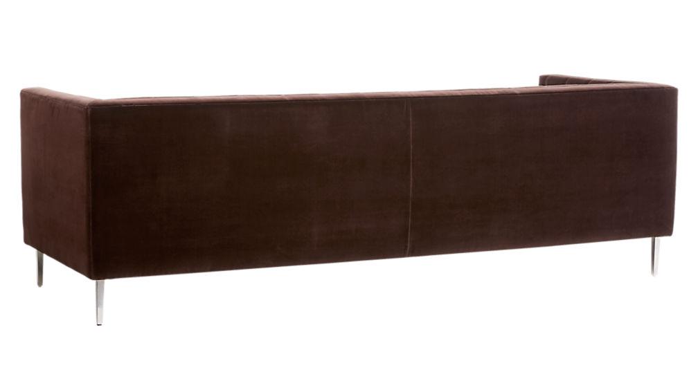 Savile Cocoa Brown Velvet Tufted Sofa